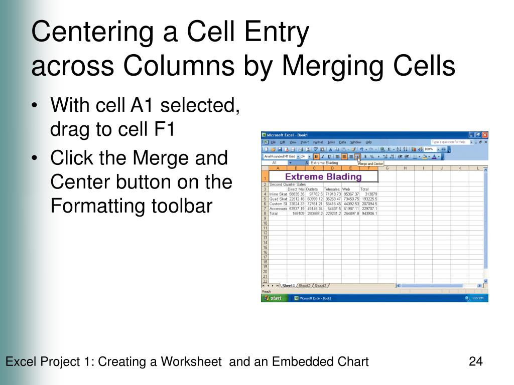 Centering a Cell Entry