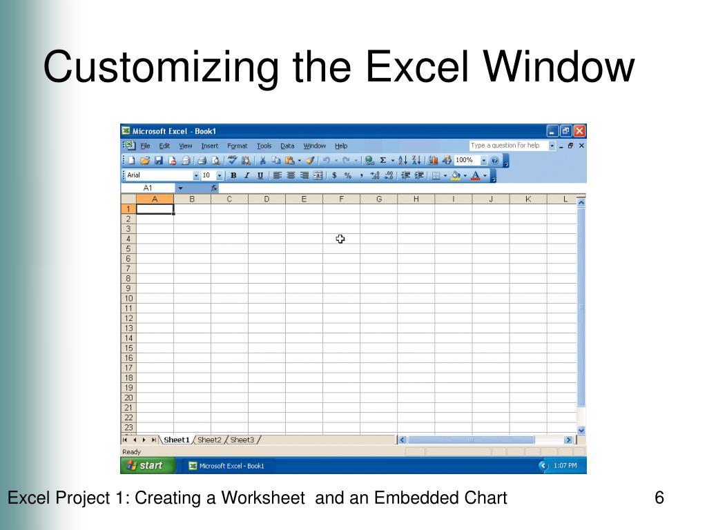 Customizing the Excel Window