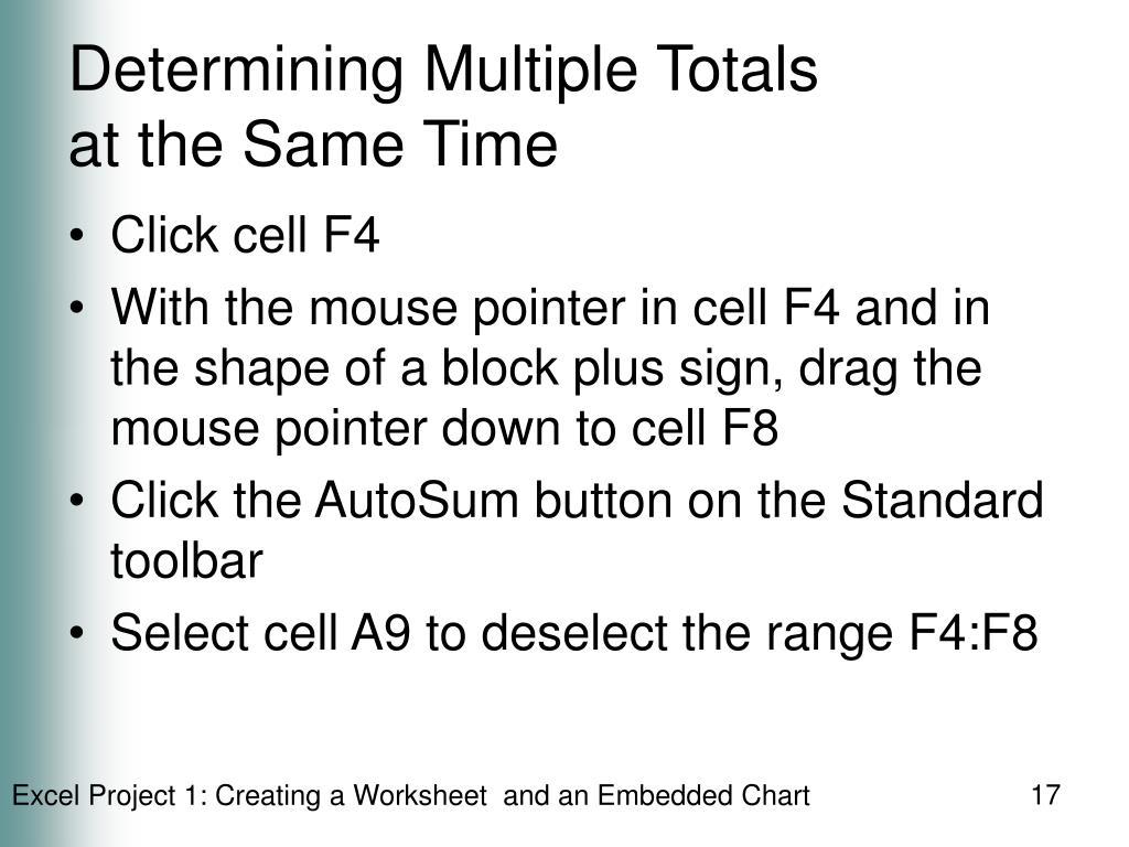 Determining Multiple Totals