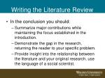 writing the literature review16