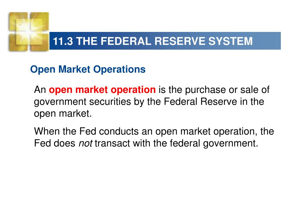 11.3 THE FEDERAL RESERVE SYSTEM
