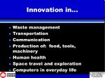 innovation in