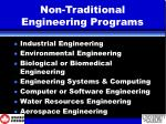 non traditional engineering programs