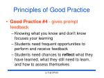 principles of good practice23
