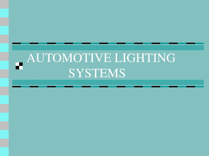 automotive lighting systems n.