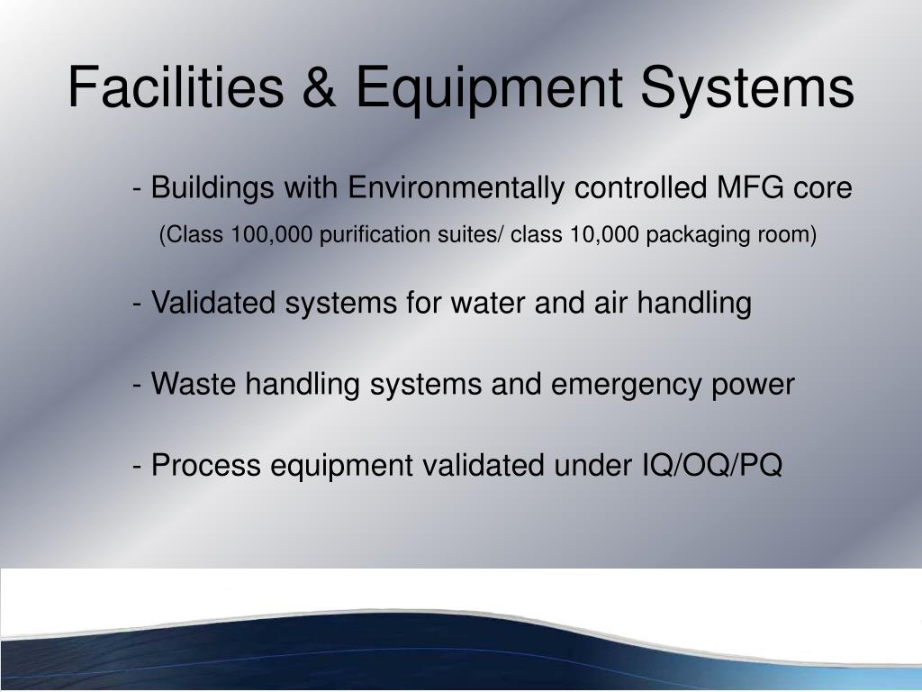 Facilities & Equipment Systems