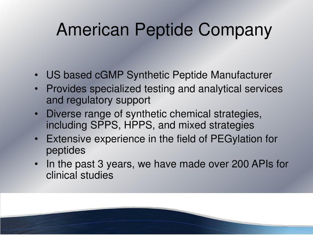 American Peptide Company
