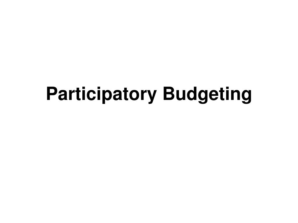 participatory budgeting l.