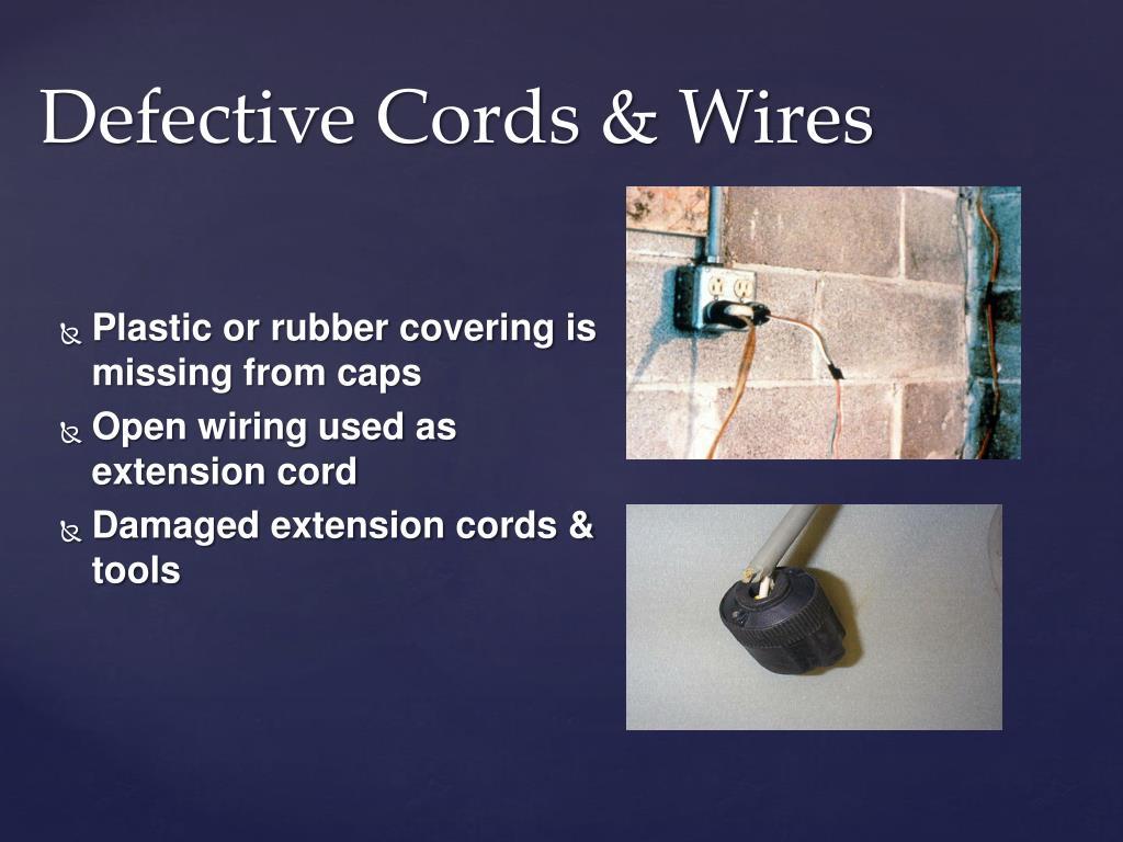 Defective Cords & Wires