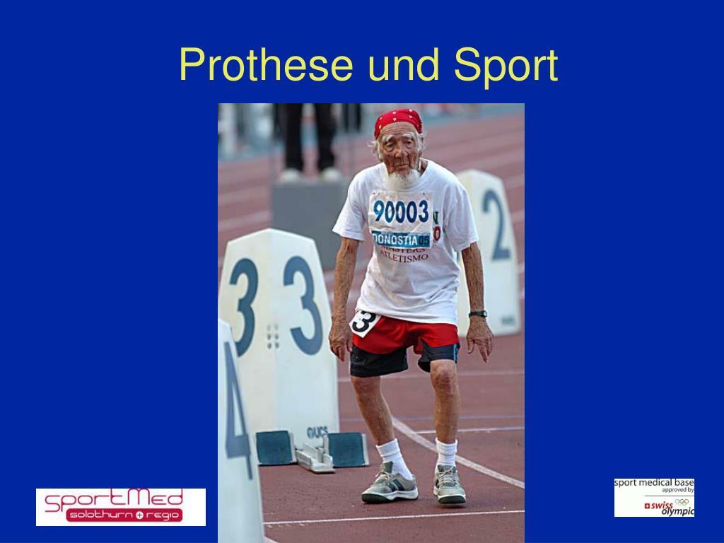 Prothese und Sport