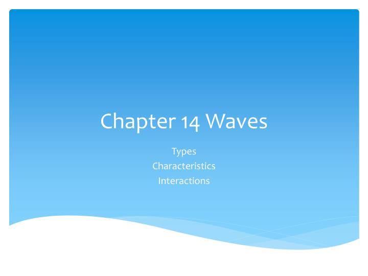 chapter 14 waves n.