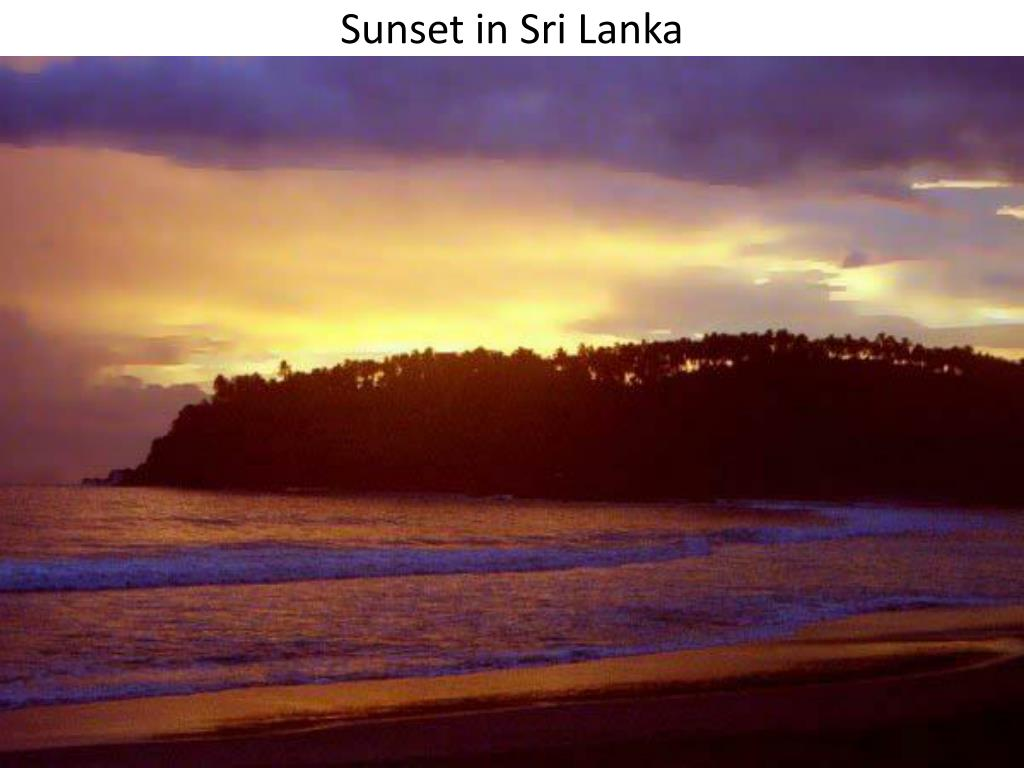 Sunset in Sri Lanka