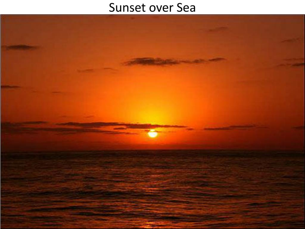 Sunset over Sea