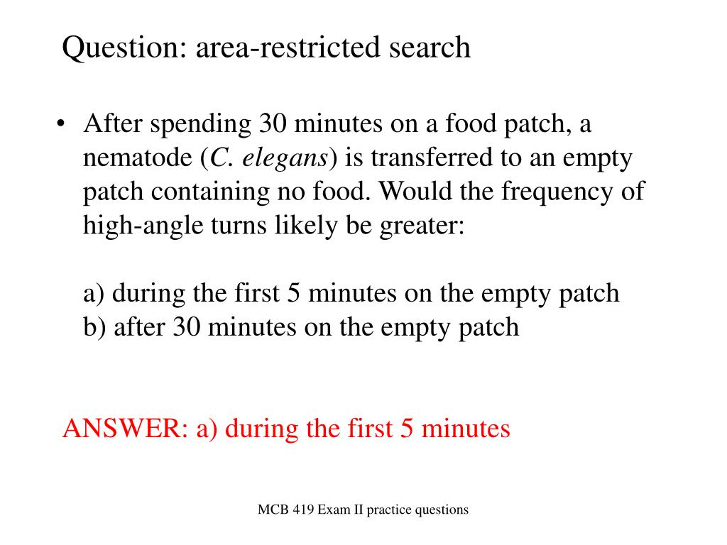 question area restricted search l.