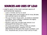 sources and uses of lead