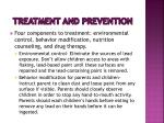 treatment and prevention
