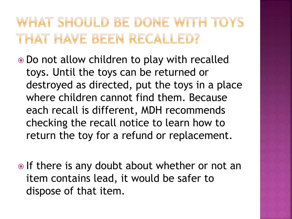 What Should be Done With Toys That Have Been Recalled?