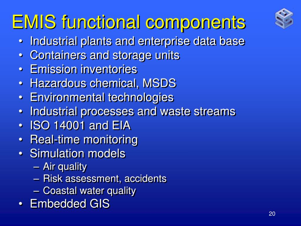 EMIS functional components