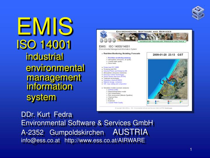 Emis iso 14001 industrial environmental management information system