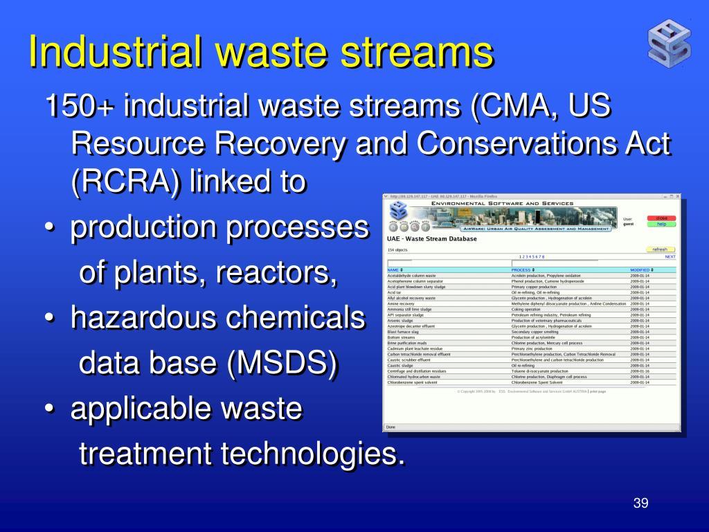 Industrial waste streams
