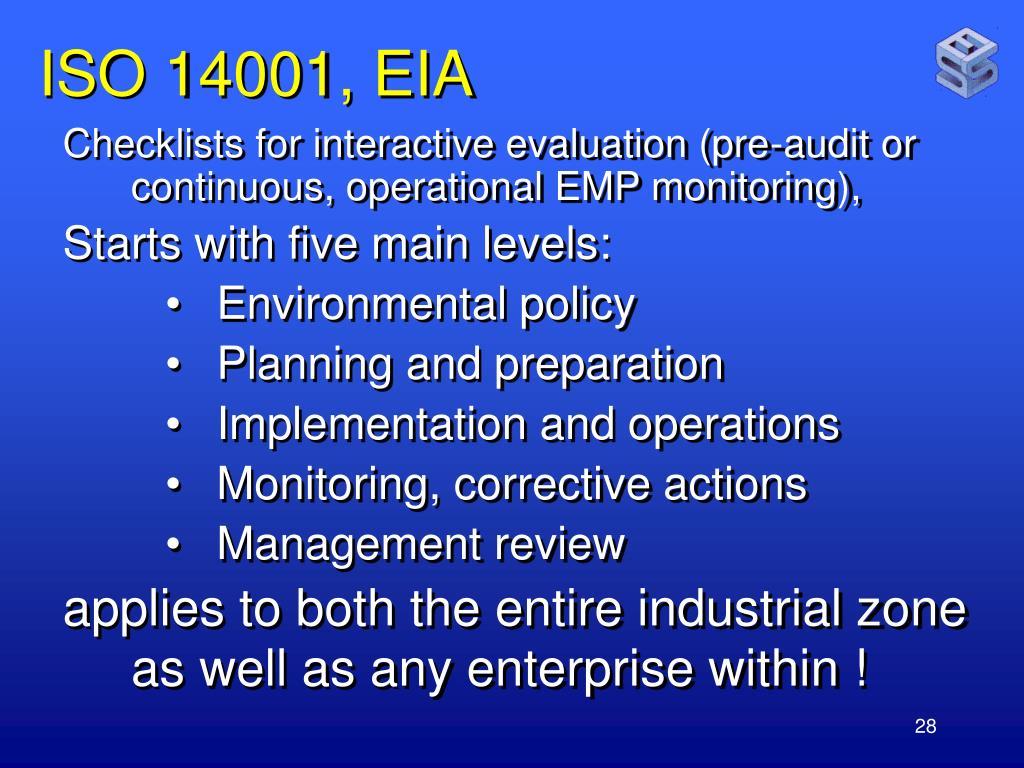 ISO 14001, EIA