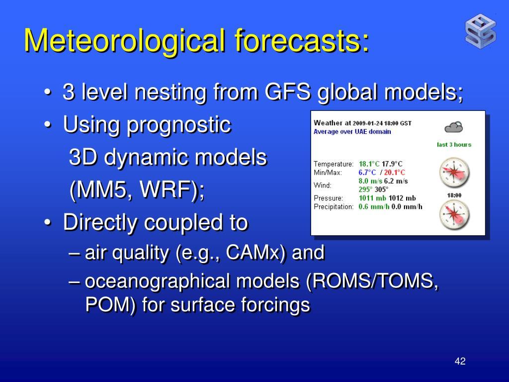 Meteorological forecasts: