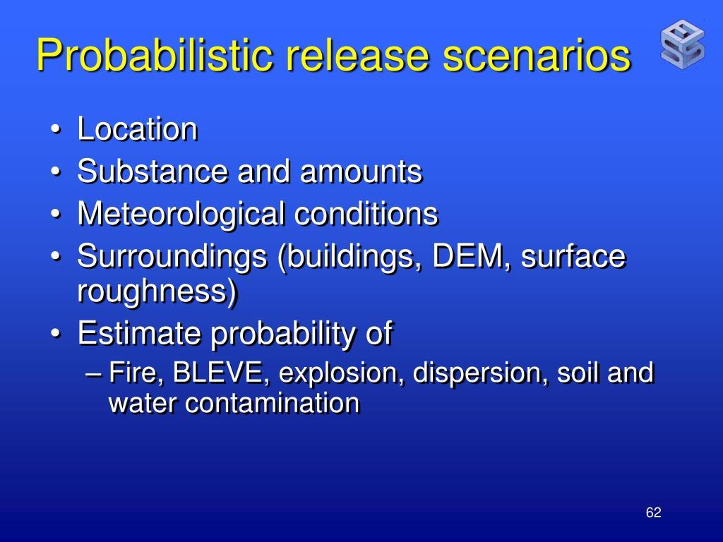 Probabilistic release scenarios