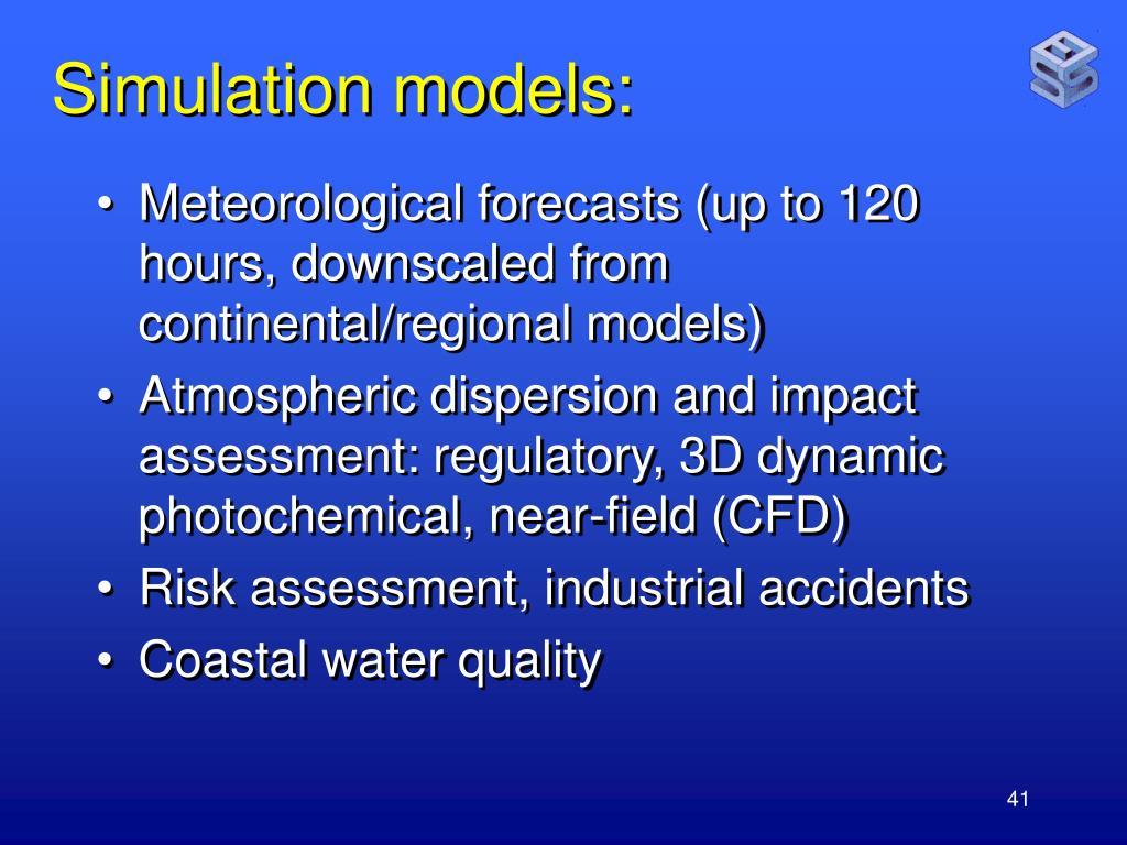 Simulation models:
