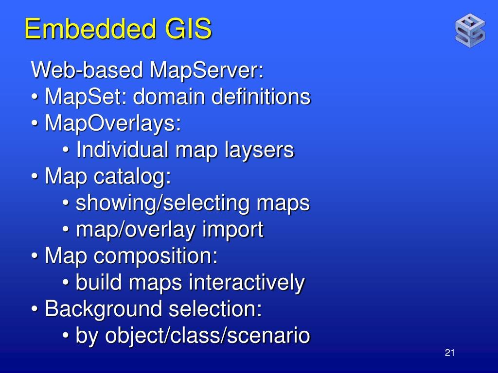 Embedded GIS