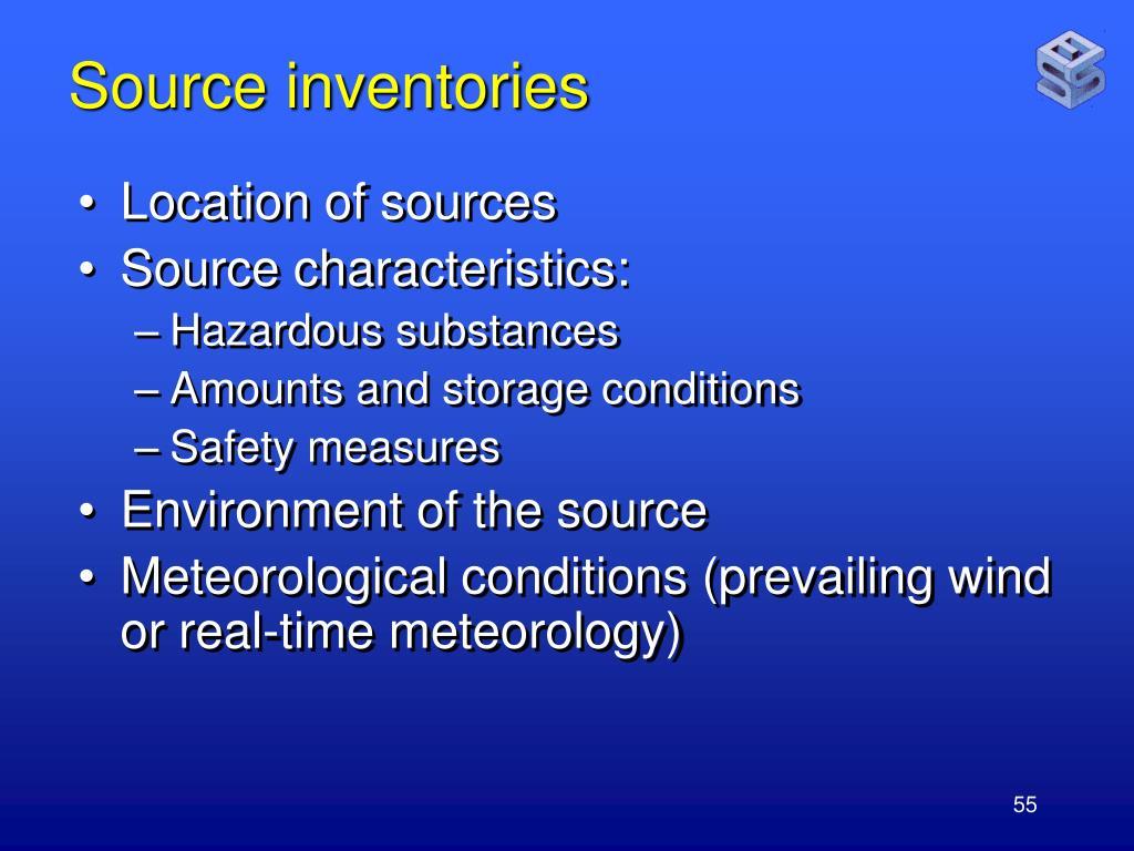 Source inventories