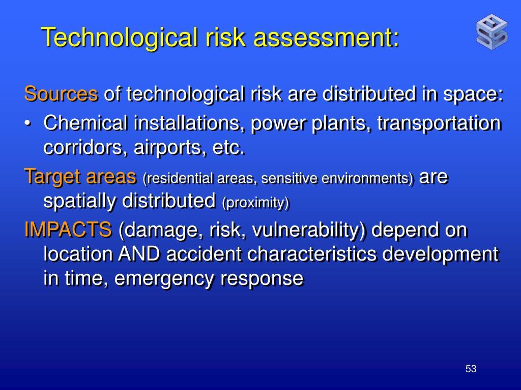 Technological risk assessment:
