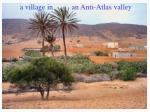 a village in an anti atlas valley