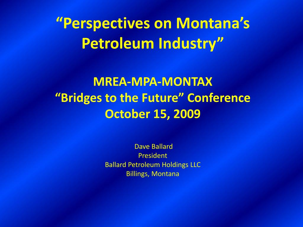 """""""Perspectives on Montana's"""