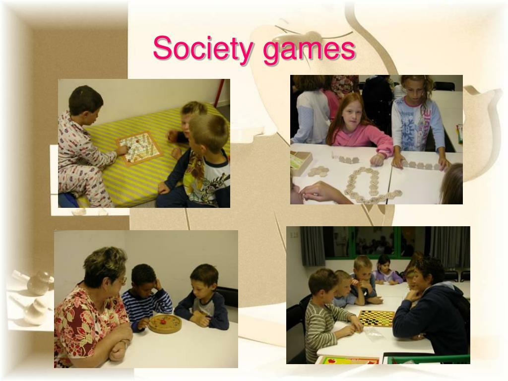 Society games