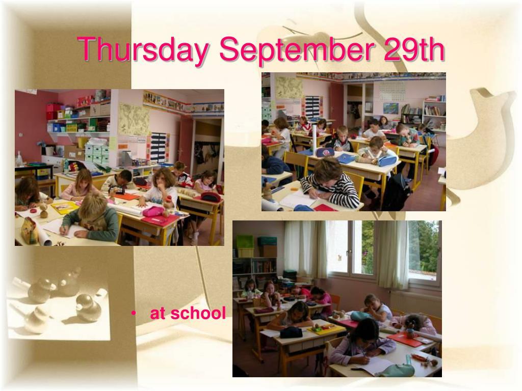 Thursday September 29th