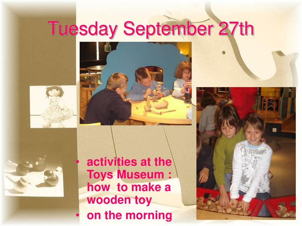 Tuesday September 27th