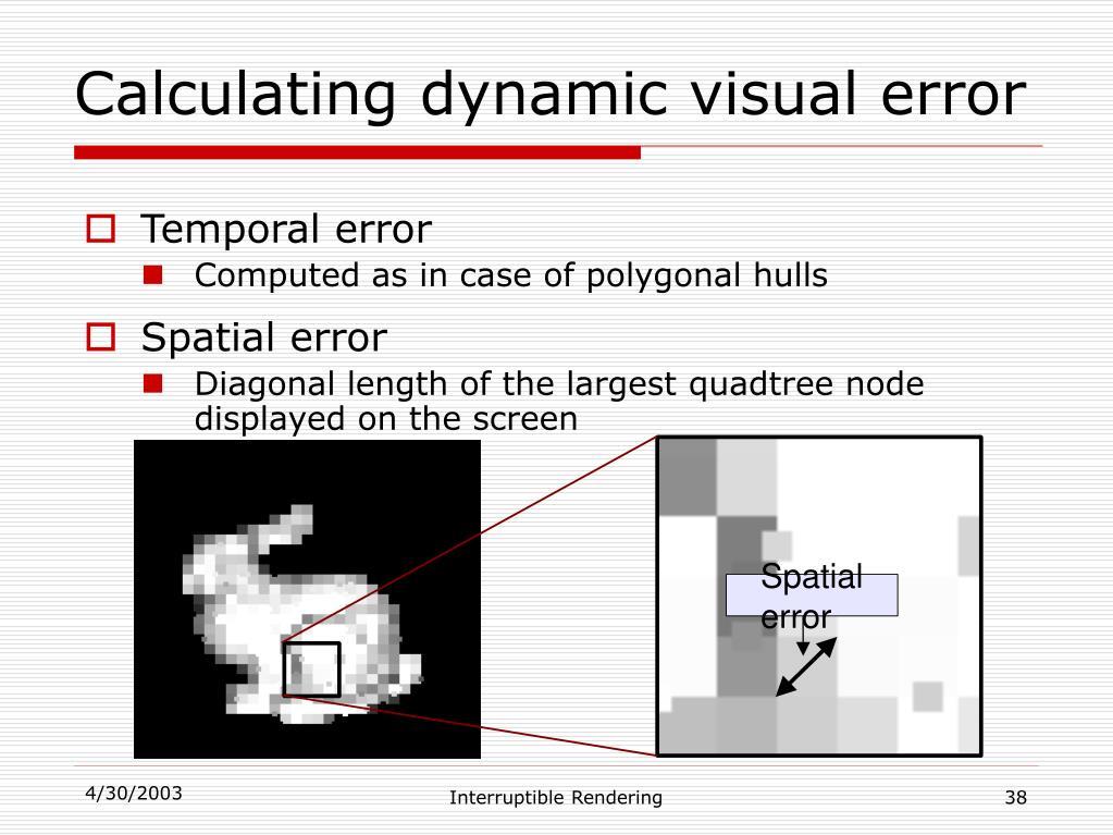 Spatial error