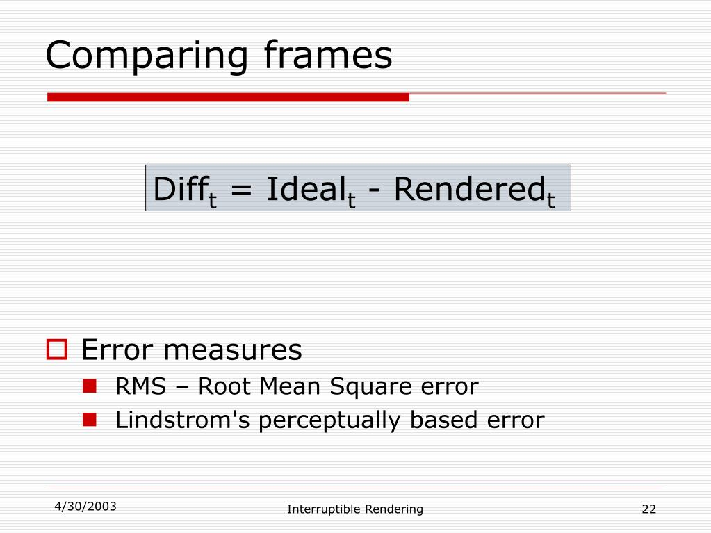 Comparing frames