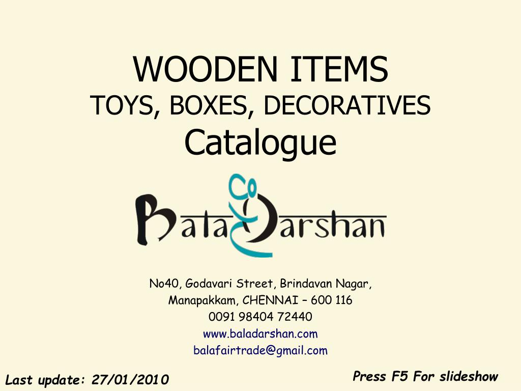 wooden items toys boxes decoratives catalogue l.