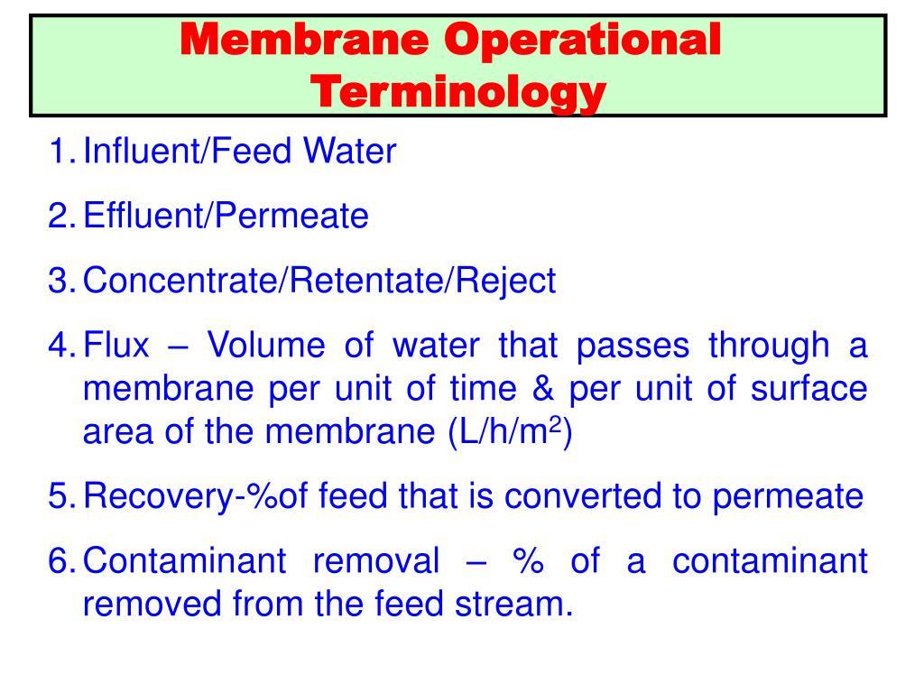 Membrane Operational