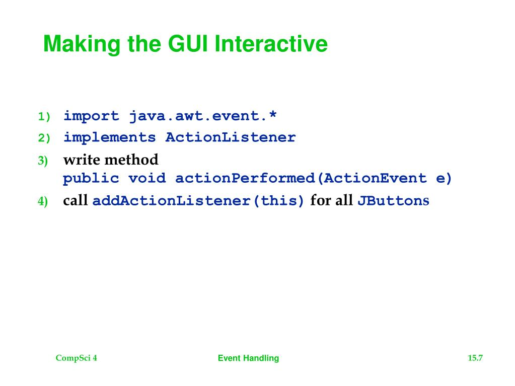 Making the GUI Interactive
