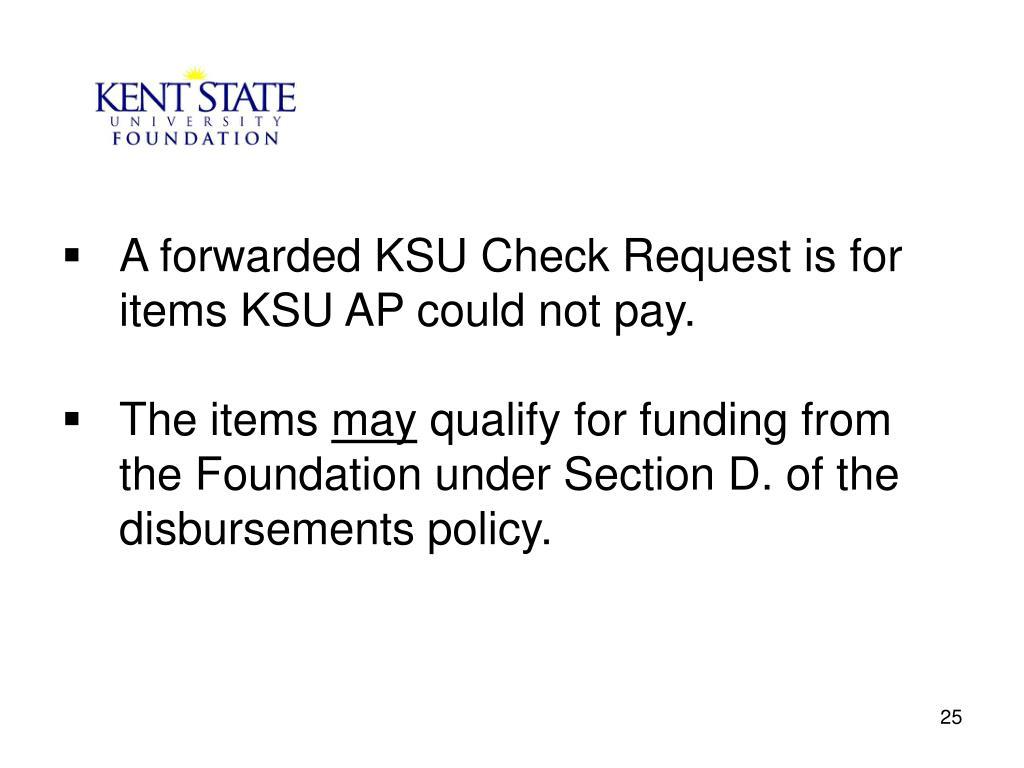 A forwarded KSU