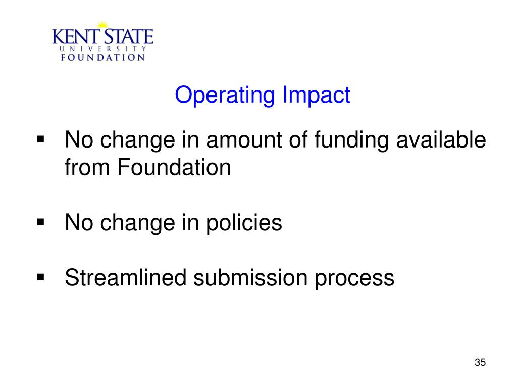 Operating Impact