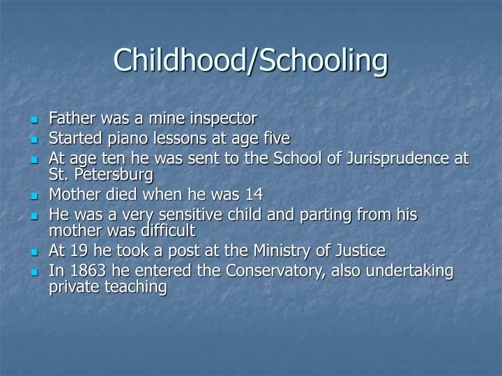 Childhood schooling