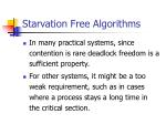 starvation free algorithms29