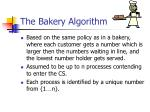 the bakery algorithm