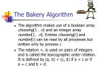 the bakery algorithm31