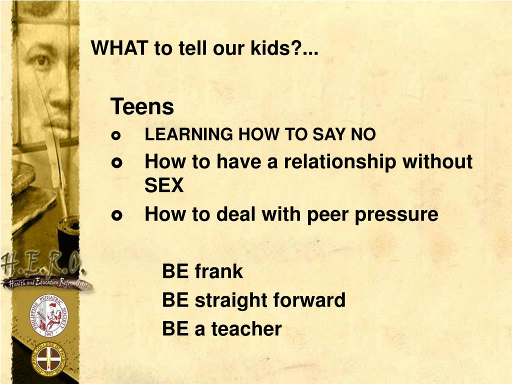WHAT to tell our kids?...