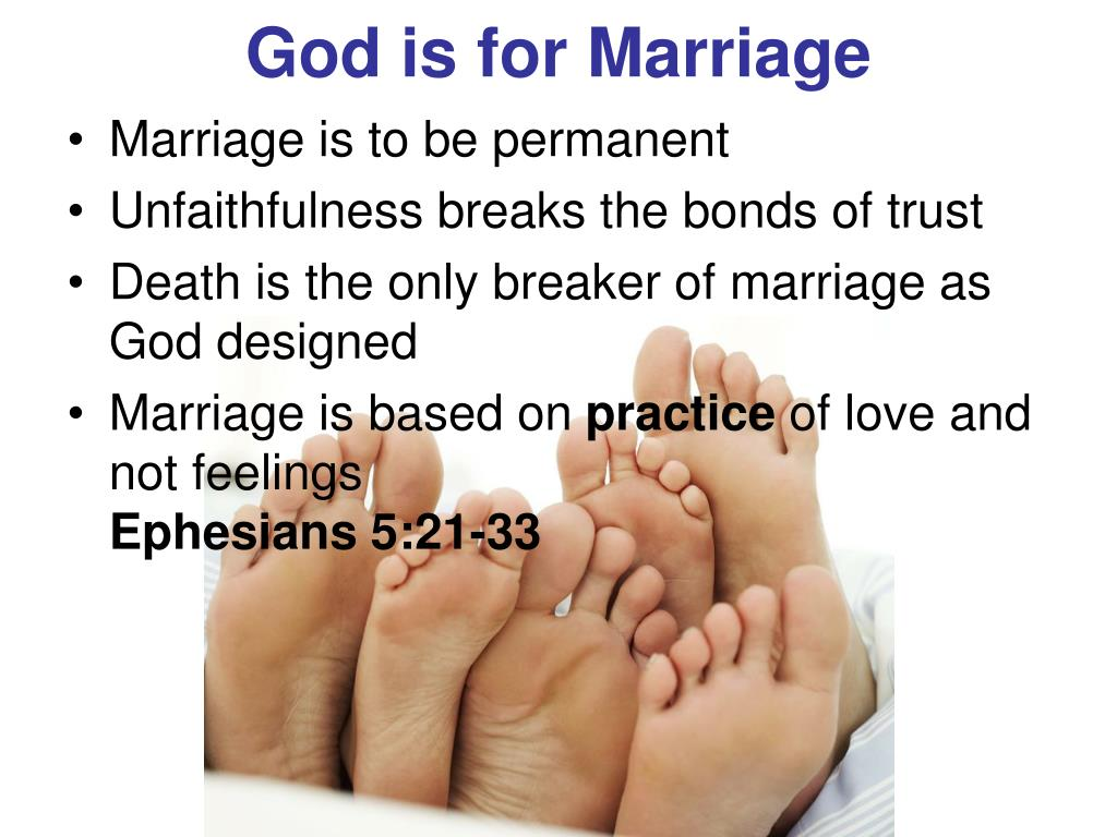 God is for Marriage