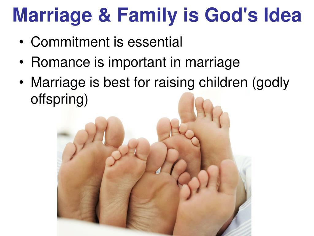 Marriage & Family is God's Idea